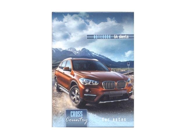 Записная книжка А7 тв/переплёт  64л Авто и горные вершины Prof Press 64-4680