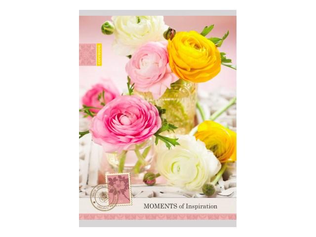 Тетрадь А4  96л Нежные цветы-4 Prof Press 96-0551