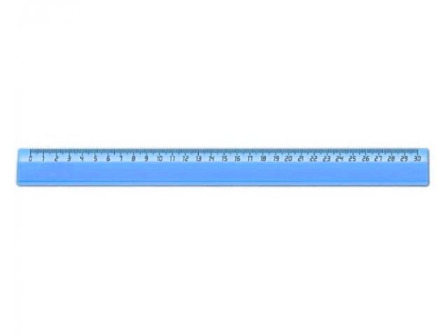 Линейка  30 см прозрачная цветная