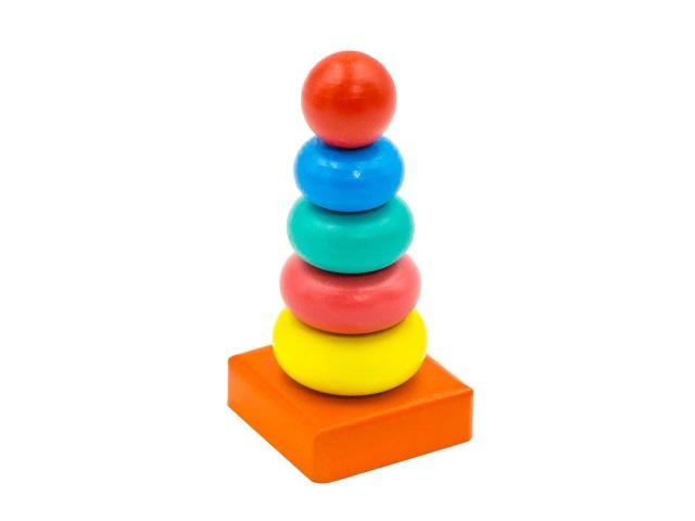 Пирамидка дерево 4 кольца Колечки 050106