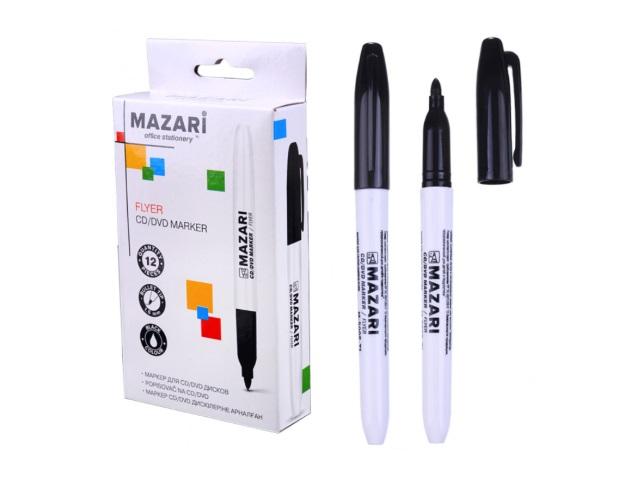 Маркер для дисков Mazari Flyer круглый черный 1мм M-5005-71
