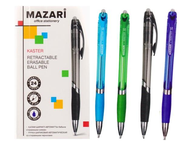 Ручка пиши-стирай автомат Mazari Kaster шариковая синяя 0.8мм M-7374-70
