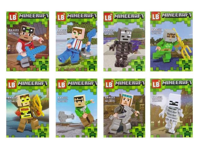 Конструктор  12 деталей Minecraft LB379