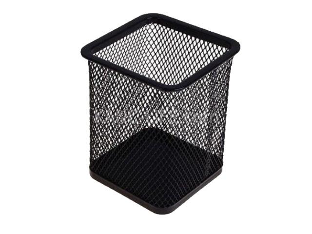Стакан для ручек металл сетка квадратный Клерк 183004/1016S434