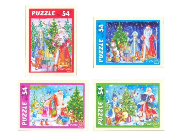 Пазлы   54 детали Дед Мороз и Снегурочка П54-8514