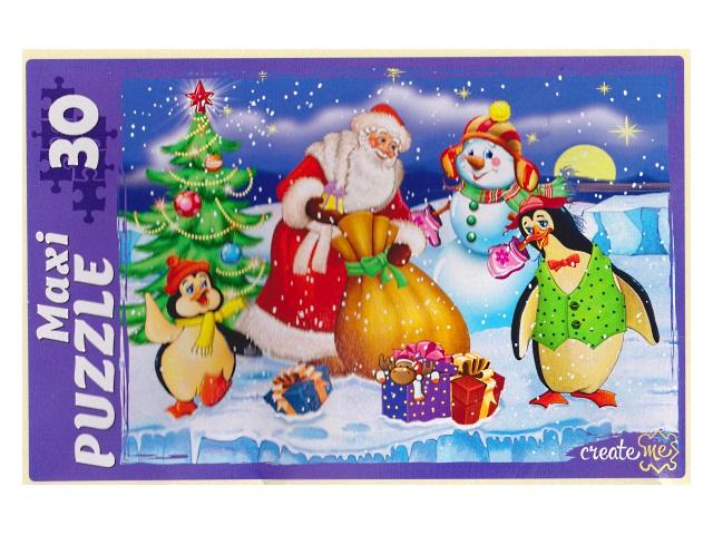 Пазлы Maxi 30 деталей Дед Мороз принес подарки ПМ-7444