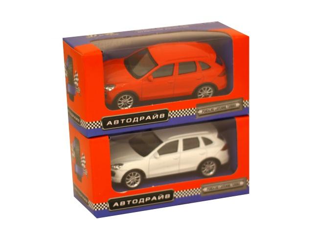 Машина инерционная 10 см Porsche Cayenne Turbo глянцевая Автодрайв И-1199