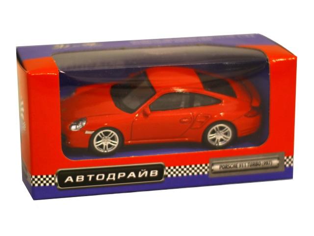 Машина инерционная 10 см Porsche 911 Turbo глянцевая Автодрайв И-1191