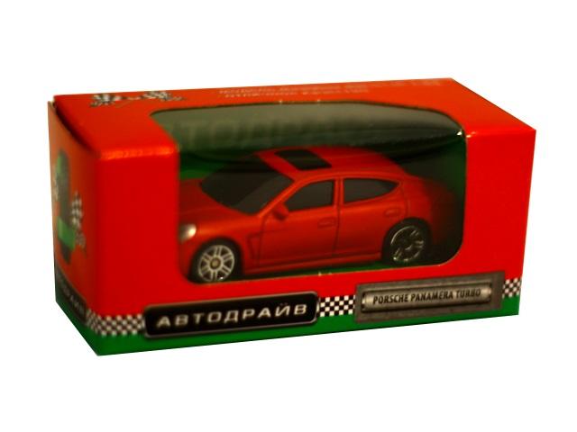 Машина инерционная  7 см Porsche Panamera матовая красная Автодрайв И-6010