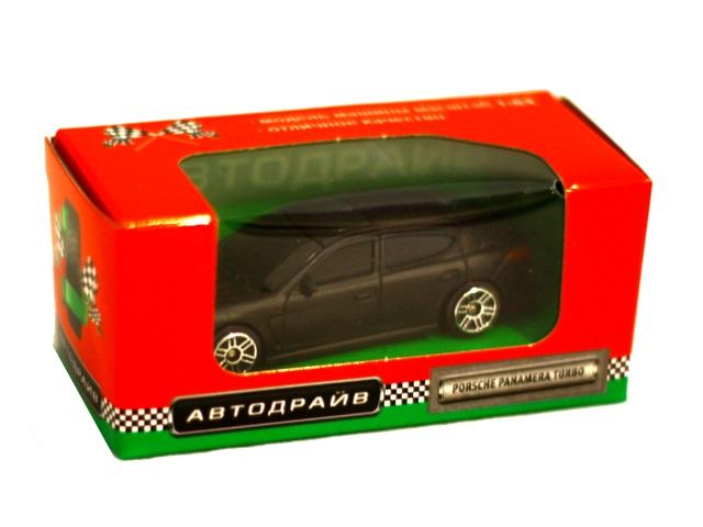 Машина инерционная  7 см Porsche Panamera Turbo матовая черная Автодрайв И-6005