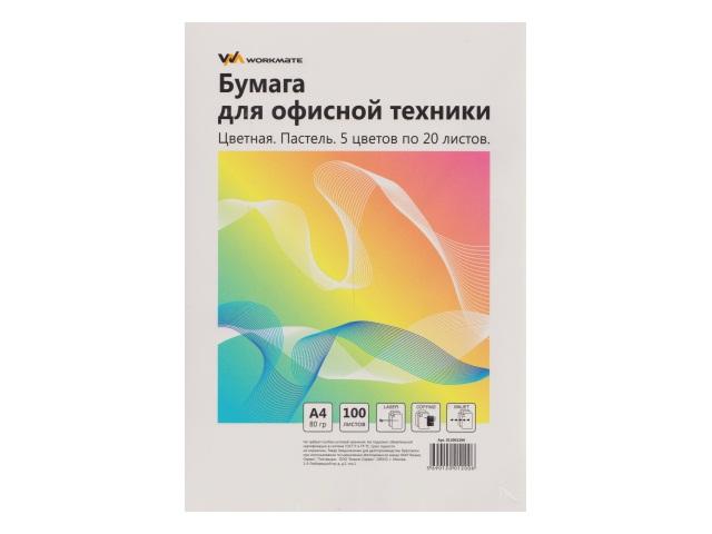 Бумага А4  80 г/м2 (5 цветов по 20л) 100 л. WM пастель 012001200