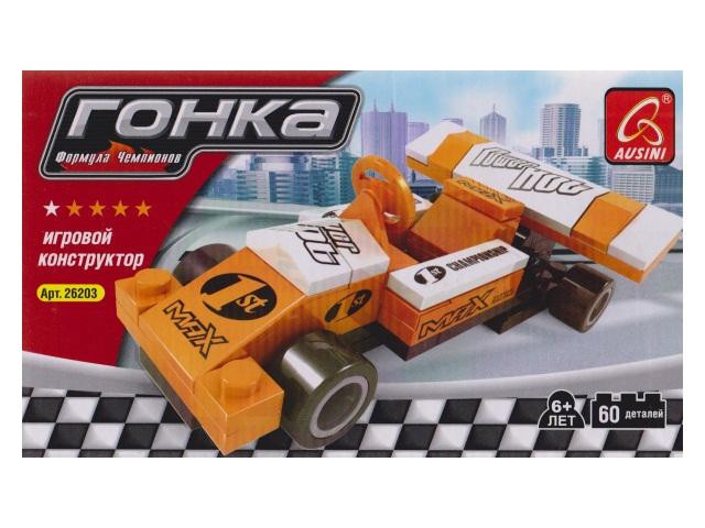 Конструктор  60 деталей Гонка-Формула чемпионов Ausini 45898