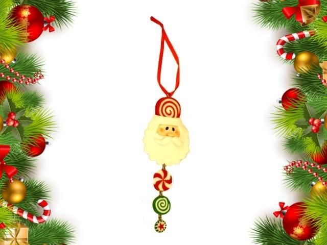 Новогодний декор Дед Мороз керамика 6*12см J.Otten 60501