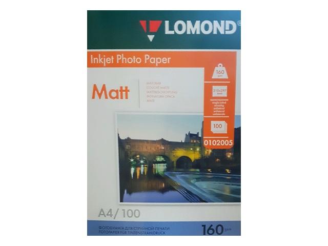 Фотобумага А4 Lomond матовая Jet 160 0102005