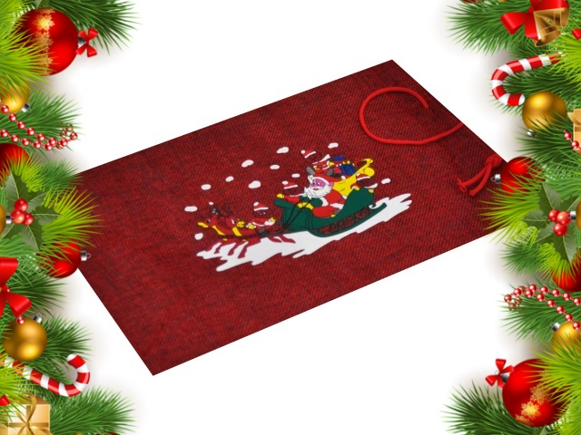 Мешок для подарка 20*30см Санта Клаус J.Otten 6178