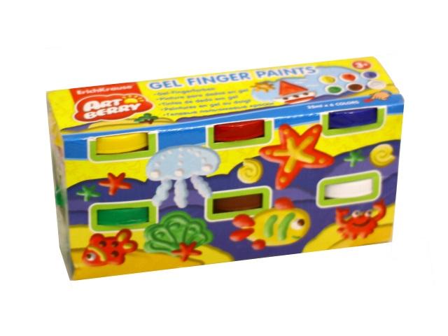 Краски пальчиковые  6 цветов по 35мл Artberry EK 34818