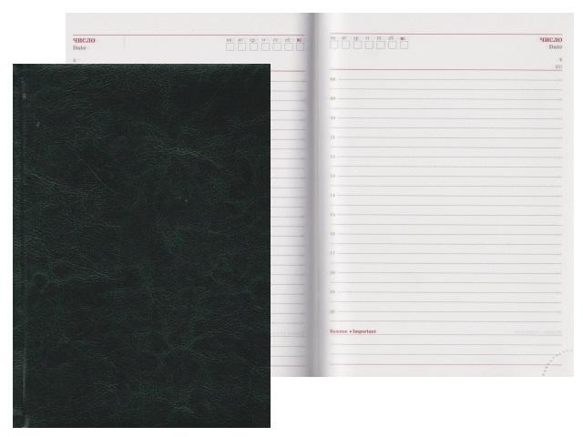 Ежедневник А5 кожзам 160л Виладж зеленый Collezione 160Е-8755