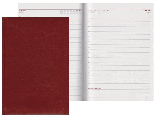 Ежедневник А5 кожзам 160л Виладж светло-коричневый Collezione 160-0660