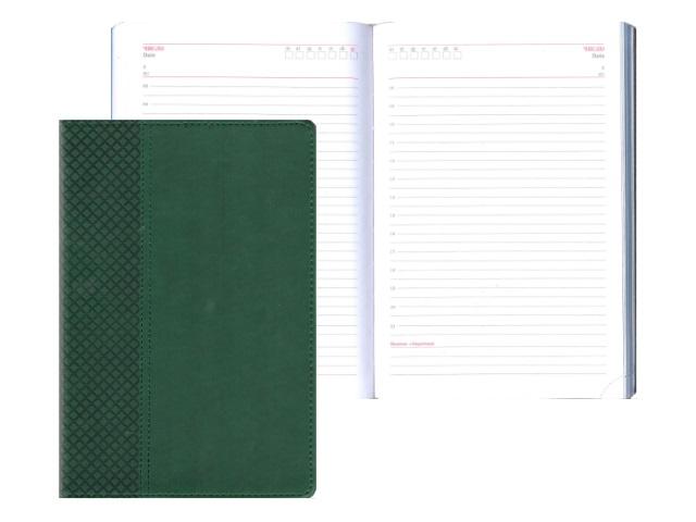Ежедневник А5 кожзам 136л Классик зеленый Collezione 136-1221