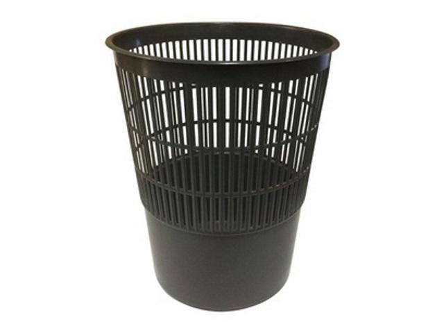 Корзина для бумаг пластик сетка круглая 14л черная WM 044001201