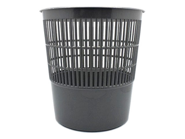 Корзина для бумаг пластик сетка круглая 14л серая WM 044001203