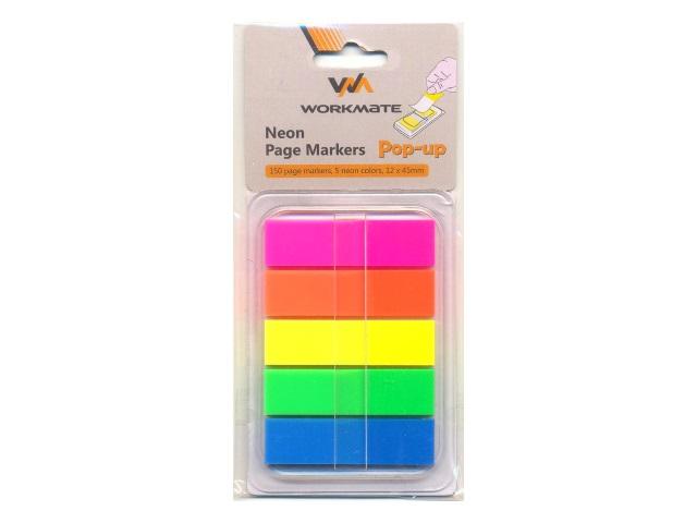 Стикер-закладка 45*12мм 5 цветов по 25л пластик Z-сложение WM 003002300