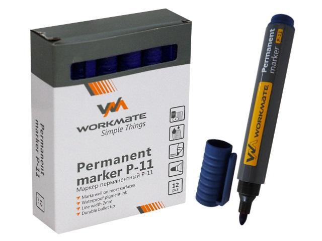 Маркер перманентный WM синий круглый 2мм Р-11 048001102