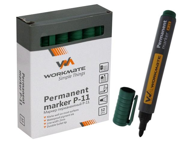 Маркер перманентный WM зеленый круглый 2мм Р-11 048001104
