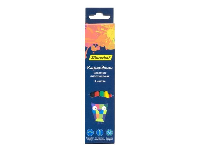 Карандаши цветные  6цв Silwerhof Цветландия шестигранные 134212-06