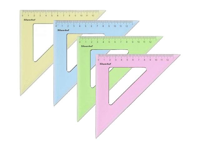 Треугольник 13 см 45*45*90 Silwerhof прозрачный цветной 540095
