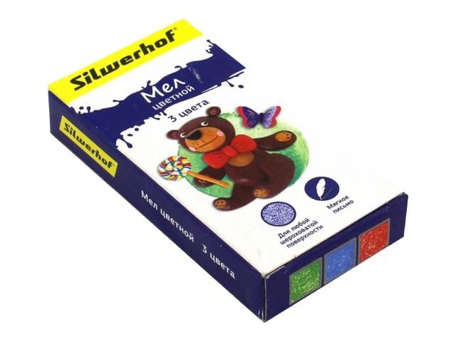 Мел  3 цвета  Пластилиновая коллекция Silwerhof Пластилиновая 882081-03