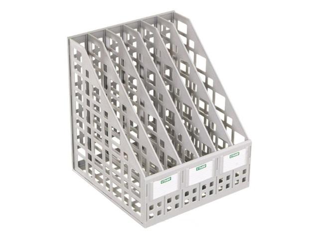 Лоток вертикальный   6 отделений сборный серый ЛТ86