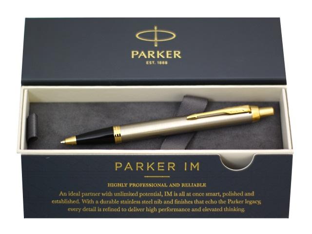Ручка Parker шариковая автомат IM Core cиняя 1мм серо-черный корпус 1931670