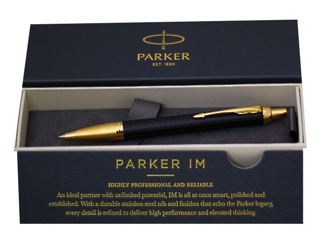 Ручка Parker шариковая автомат IM Premium cиняя 1мм черный корпус 1931667