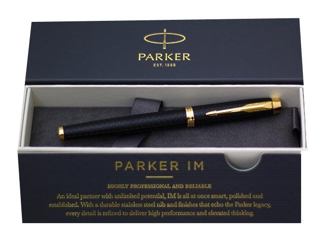Ручка Parker роллер IM Premium черная 0.5мм черный корпус 1931660