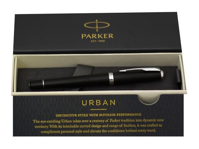 Ручка Parker роллер Urban Core черная 0.5мм черный матовый корпус 1931583