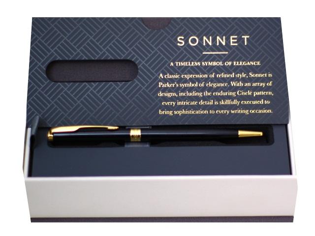 Ручка Parker шариковая поворотная Sonnet Core черная 1мм черный корпус 413855