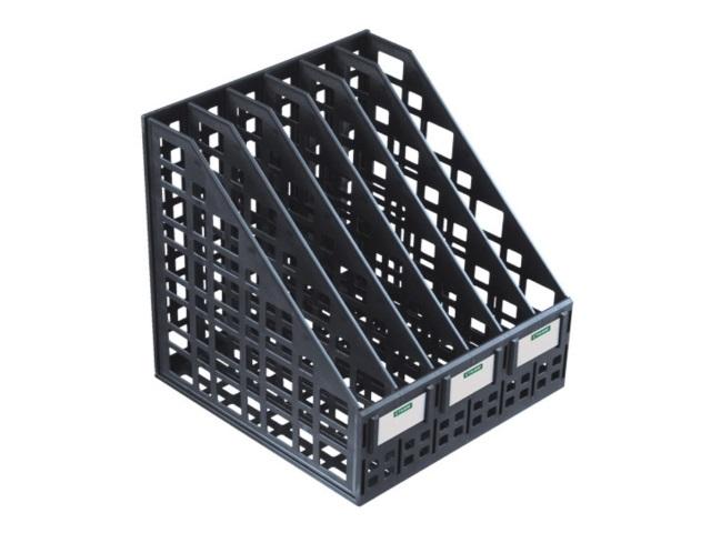 Лоток вертикальный   6 отделений сборный черный ЛТ87