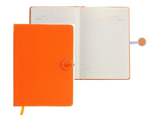Ежедневник А5 тв/переплёт 136л на магните оранжевый Mazari М-3595-77