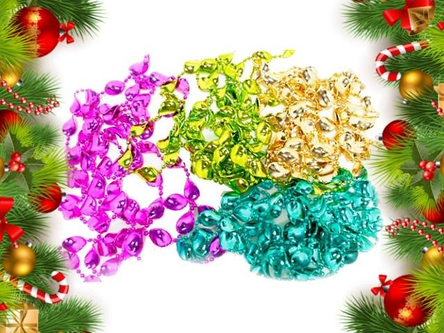 Бусы на ёлку 2.7м Merry Christmas цветные Darlens D27557