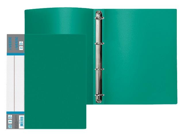 Папка 4 кольца А4 35мм d=25мм зеленая DeVente 3081411