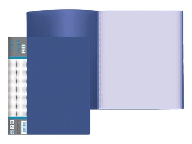 Папка 4 кольца А4 35мм d=25мм синяя DeVente 3081412