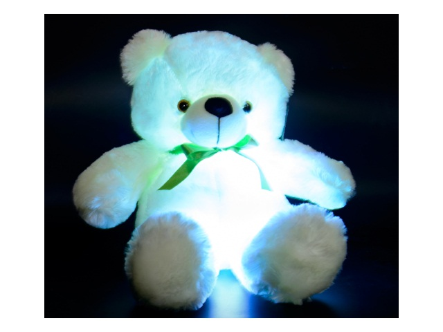 Мягкая игрушка Медведь белый 60см светящийся на батарейках 1100