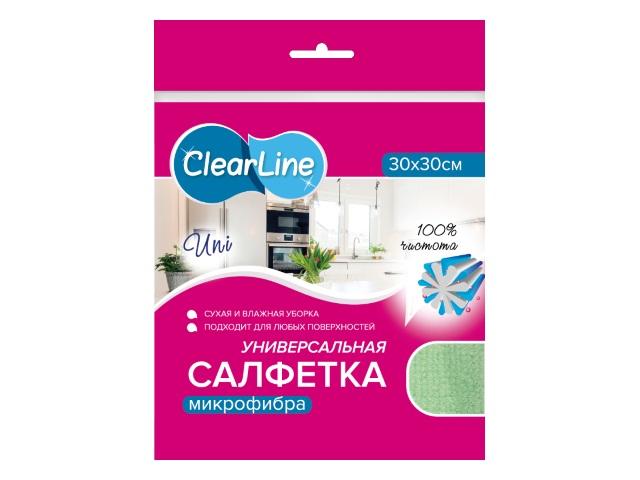 Салфетка микрофибра 30*30 см Uni Clear Line