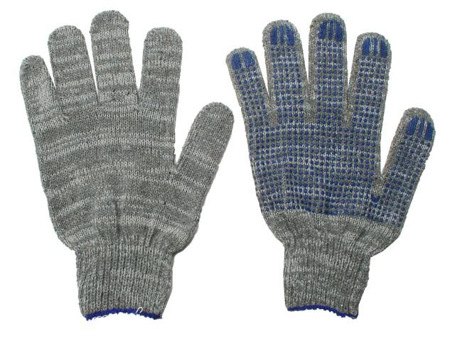 Перчатки тканевые с ПВХ 5 нитей 10 класс ассорти