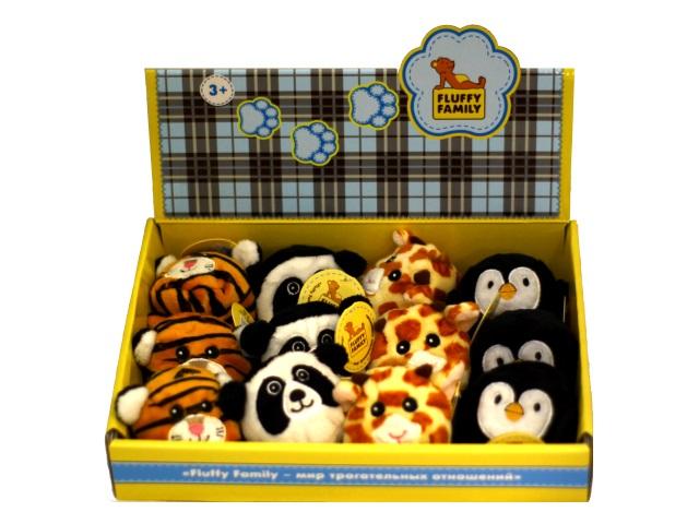 Мягкая игрушка Круглик Дикие животные 8см Fluffy Family 681245