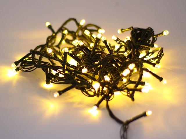 Гирлянда точечная  8м 100 лампочек цветная 8 режимов Round Plactic Bulbs