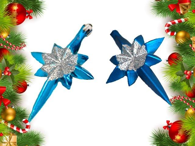 Ёлочная игрушка набор  2шт Звезды 10см Новогодняя сказка GN8038