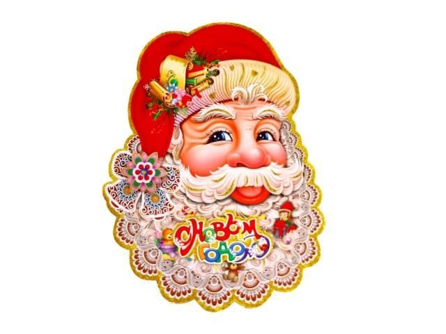 Наклейки новогодние Дед Мороз 40см
