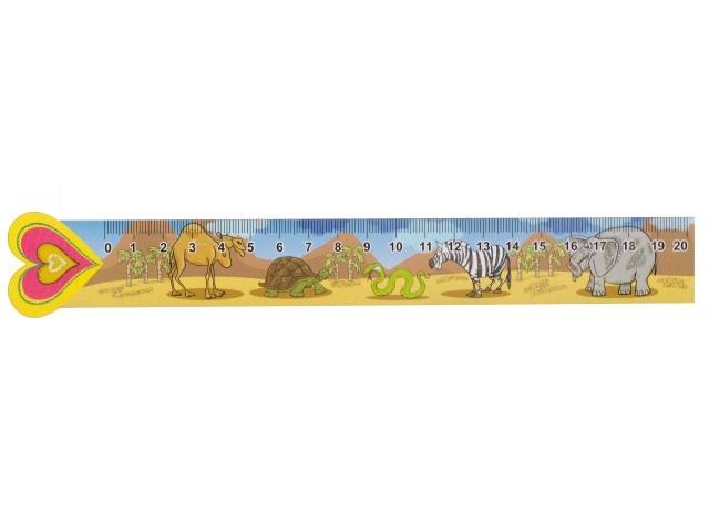 Закладка-линейка Дикие животные Miland 5-05-0253